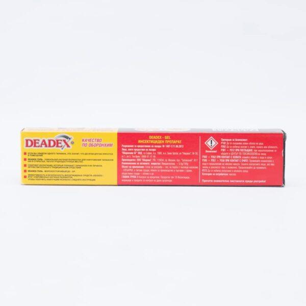 Деадекс гел опаковка с описание и начин на ползване.