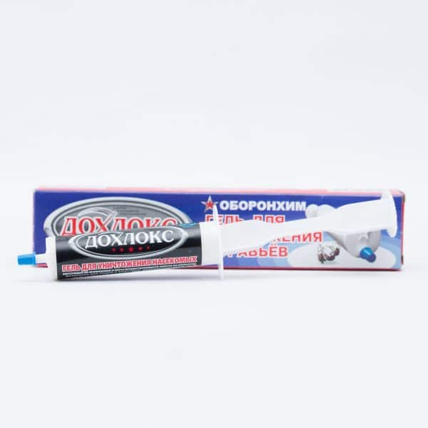 Дохлокс тубичка и спринцовка - всичко необходимо за нанасянето на препарата.